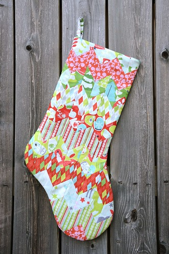 Stockinette Christmas Stocking - Fat Quarterly 11 | by thought & found / Sheila