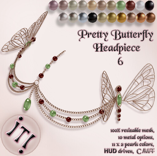 !IT! - Pretty Butterfly Headpiece 6 Image