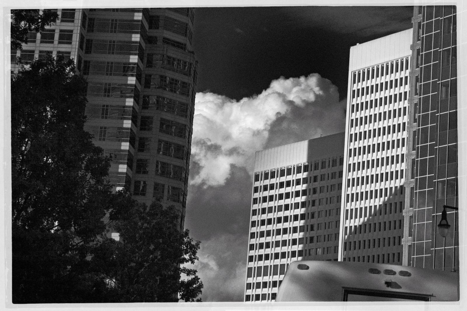 Midtown Atlanta, Bus and Clouds