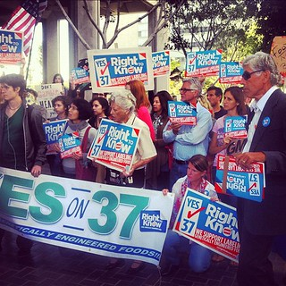More photos from yesterday's Yes on Prop 37 rally at LA City Hall #prop37 #labelgmos | by cheeseslave