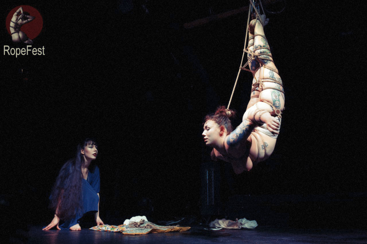 Shibari performance by Gestalta and Sophia in Estonia, RopeFest 2016