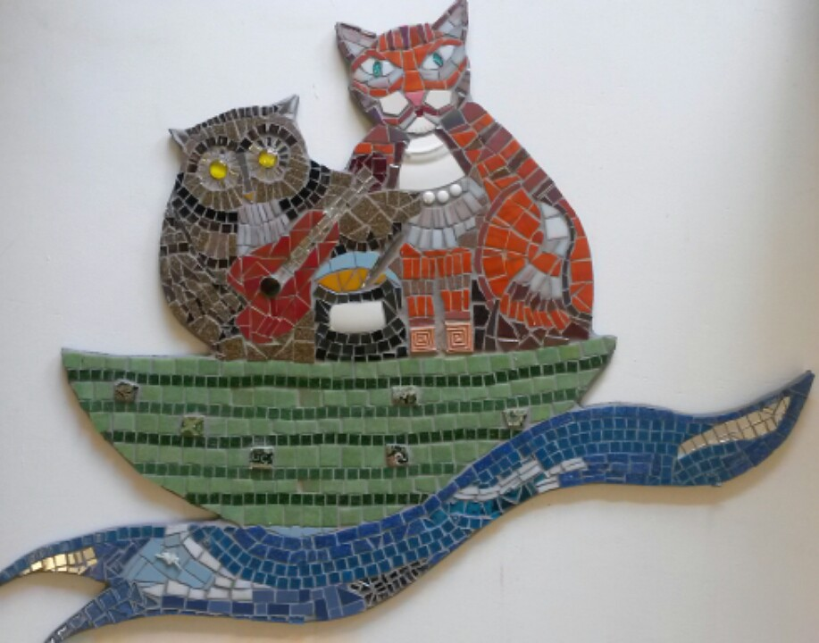 Mosaics for children's play area in Greenwich