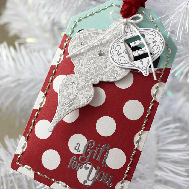 A Gift For You Ornament Tag Close Up