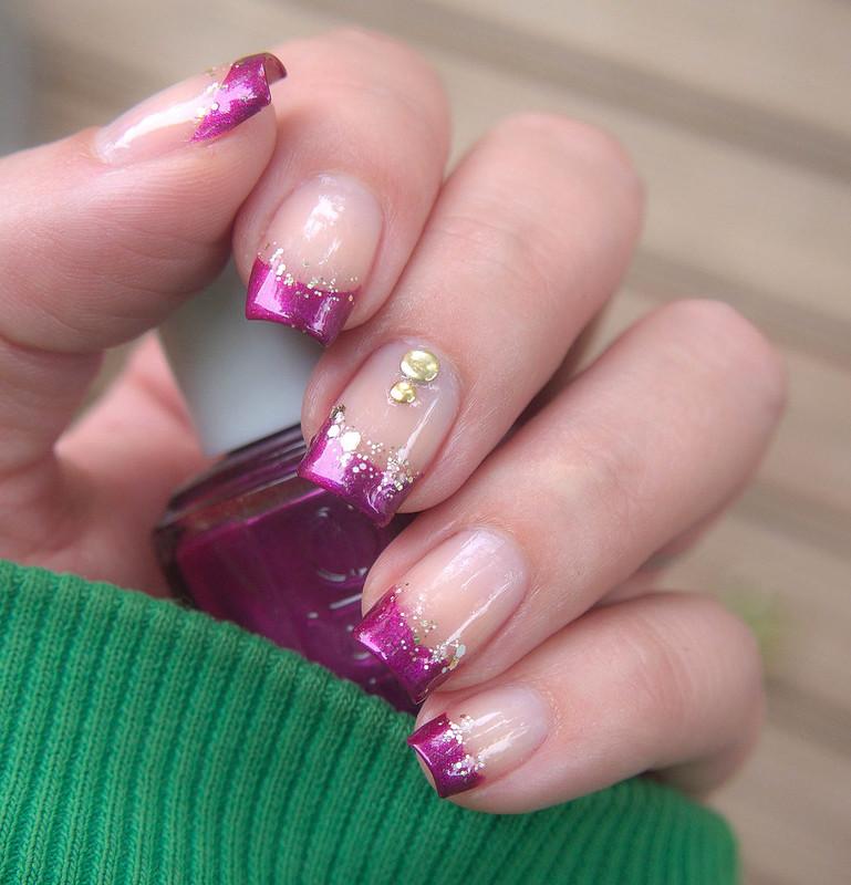 lyhyet kynnet koristelu manikyyri french manicure nail vinyls