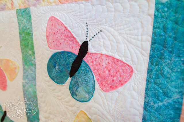 Flutter and Sparkle Butterfly Quilt