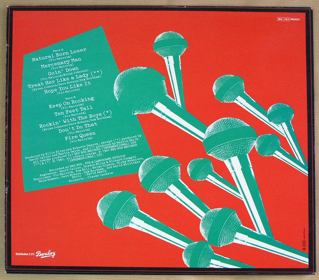 "BRIAN JOHNSON aND GEORDIE BARCLAY FRANCE 12"" LP VINYL"