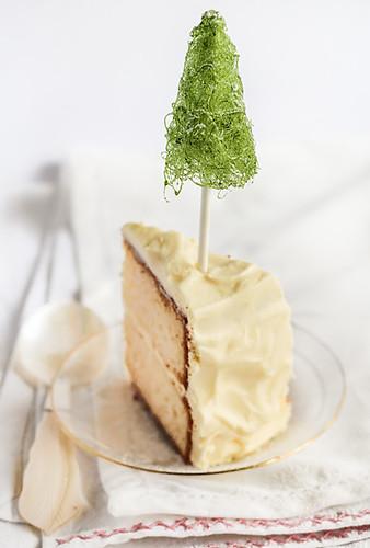 Spun Sugar Cake Decoration