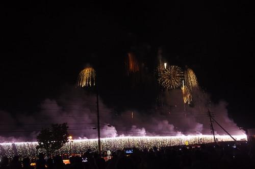 Niagara falls fireworks 2km width!! Suwako-Lake Fireworks Festival 2016 74