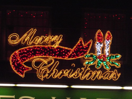 Acocks Green Village after dark - Christmas lights - Jeffries Hardware - Merry Christmas / Elliott Brown, via Flickr