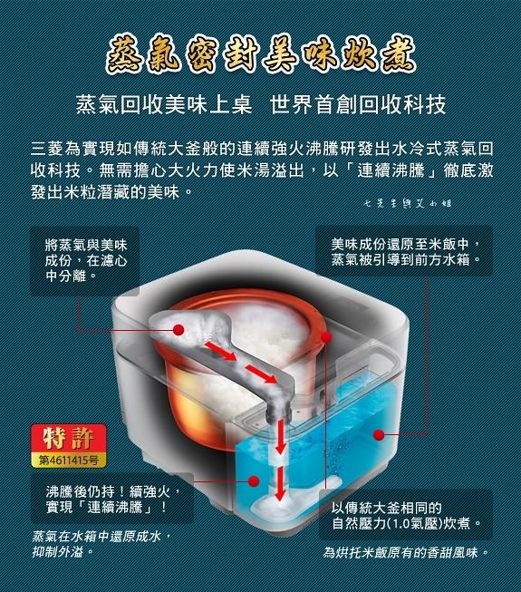 24 MITSUBISHI 三 菱蒸氣回收 IH 電子鍋