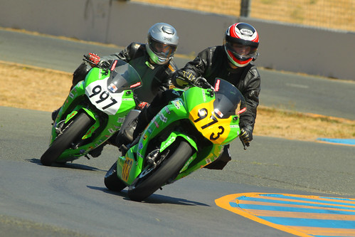 Me on Ninja 300 at Sonoma Raceway