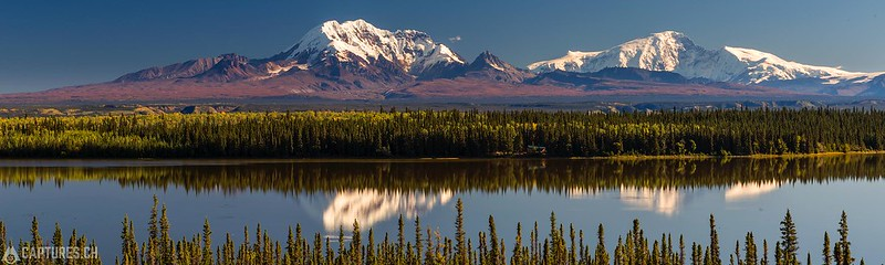 Mt. Drum reflection in the Lake Willow - Glenallen