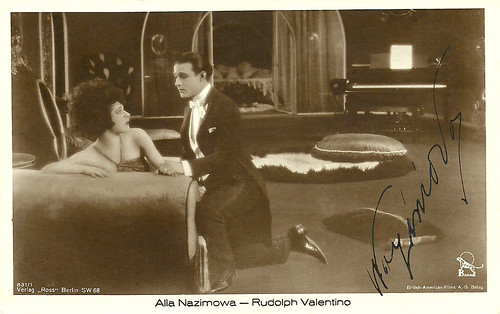 Alla Nazimova and Rudolph Valentino in Camille