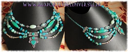 Bijoux artisanaux uniques créés par la boutique ésotérique Aux Portes de l'Universel