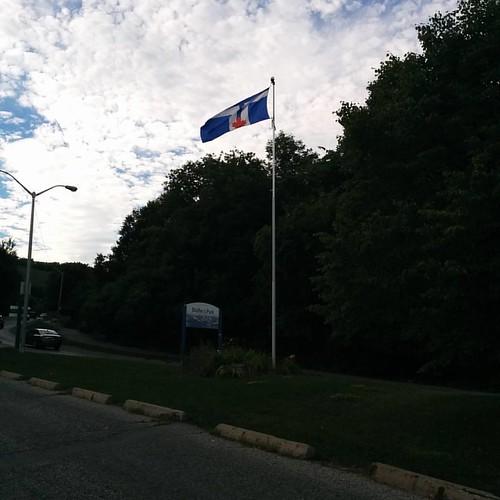 Flag of Toronto #toronto #scarborough #scarboroughbluffs #lakeontario #flags