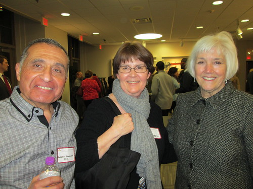 Mohamed  Elnabarawy '76, Mary Lindgren and Chancellor Jacqueline Johnson | by University of Minnesota, Morris Alumni Association