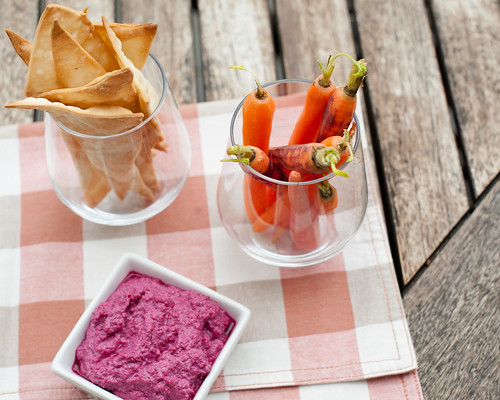 Beetroot & Feta Dip with Crackers