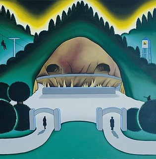 Roger Brown, Cave Park, 1971, Oil on canvas | by drollgirl
