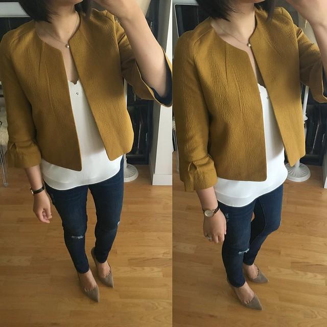 LOFT lantern sleeve jacket, size XSP