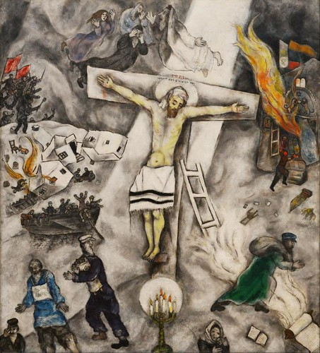"""""""White Crucifixion"""" by Marc Chagall (1938) 