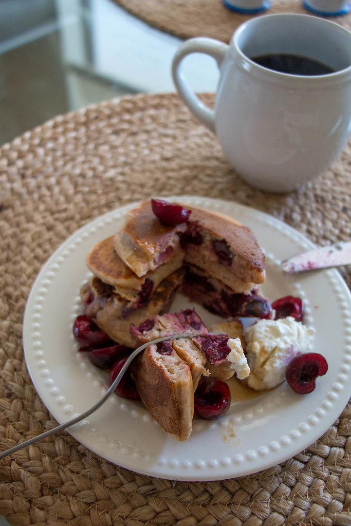 07.31.  Sweet Cherry Whole Wheat Pancakes