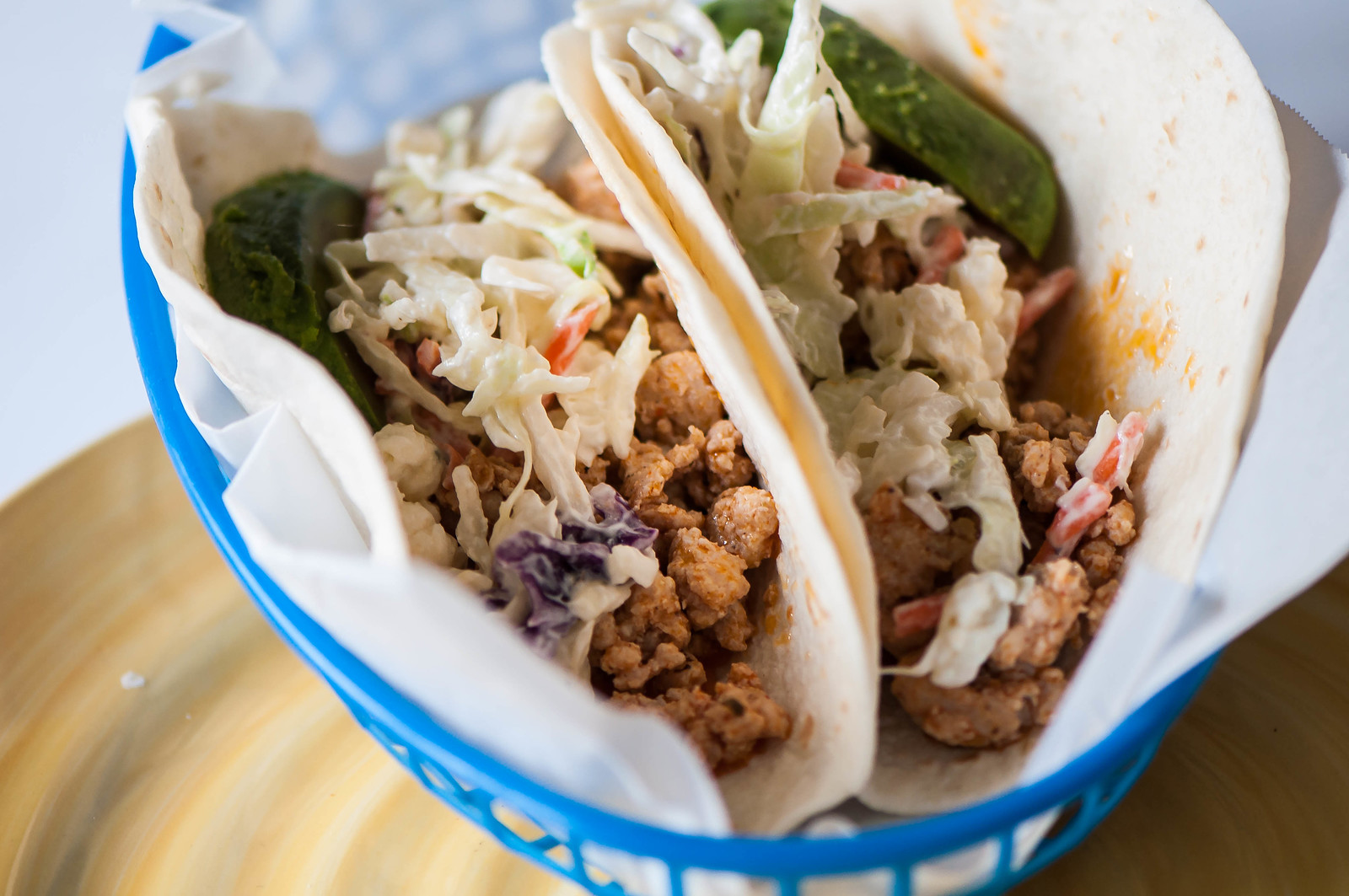 Buffalo Chicken Tacos with Bleu Cheese Slaw 9