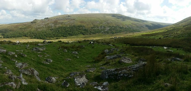 The West Okement Valley from Slipper Stones