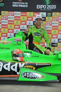 James Hinchcliffe in Victory Lane | by IndyCar Series