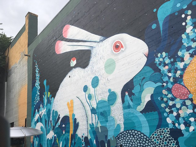 Rabbit mural by Mateu Velasco Portland, Oregon