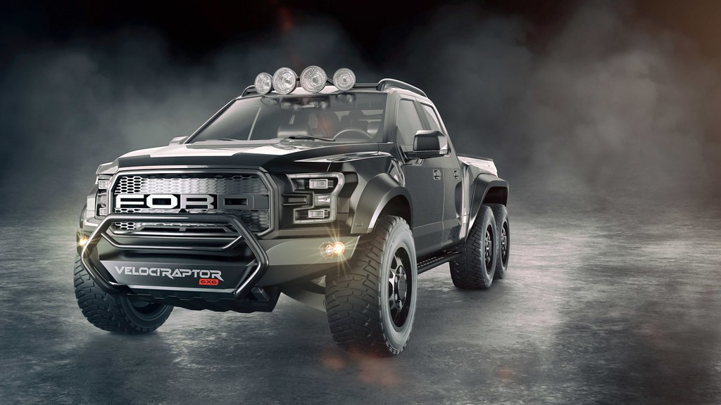 This is the Hennessey VelociRaptor 6X6
