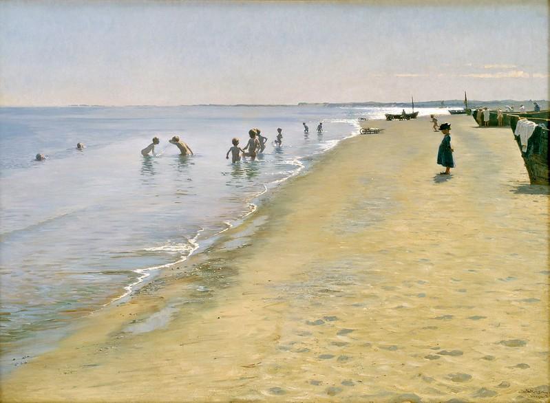 Peder Severin Krøyer - Sommerdag ved Skagens Sønderstrand (1884)
