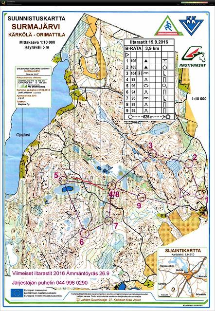 Surmajärvi Route edited