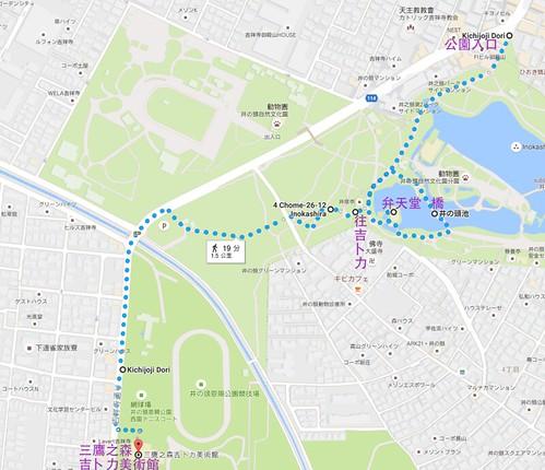 井之頭恩賜公園MAP