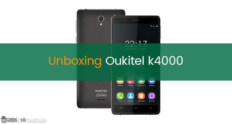 unboxing oukitel k4000