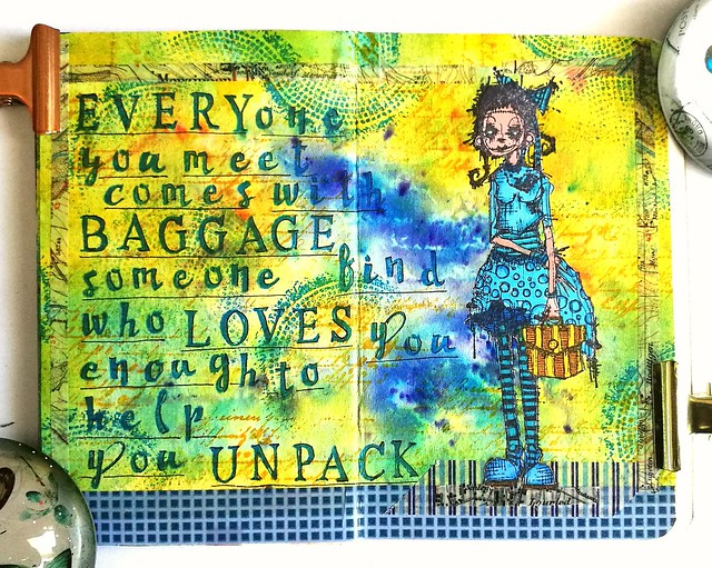 Mini art Journal Excess baggage