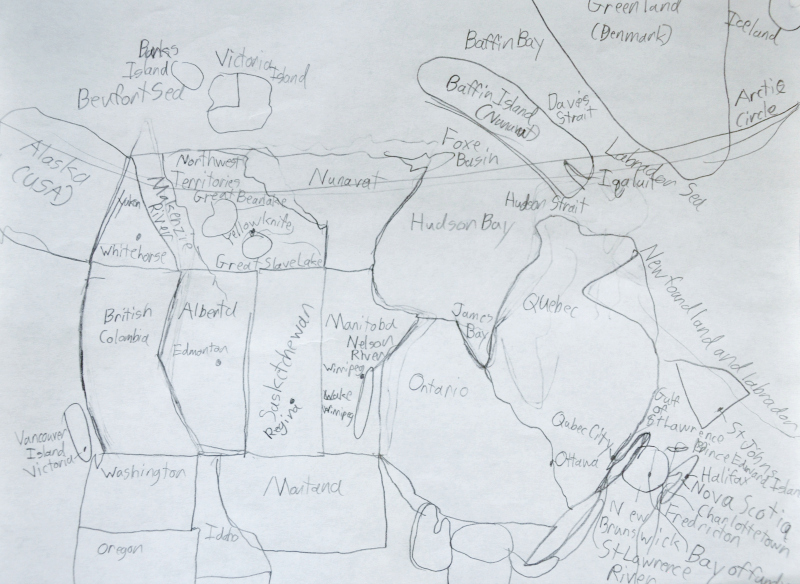 Luke's Canada Map @ Mt. Hope Chronicles