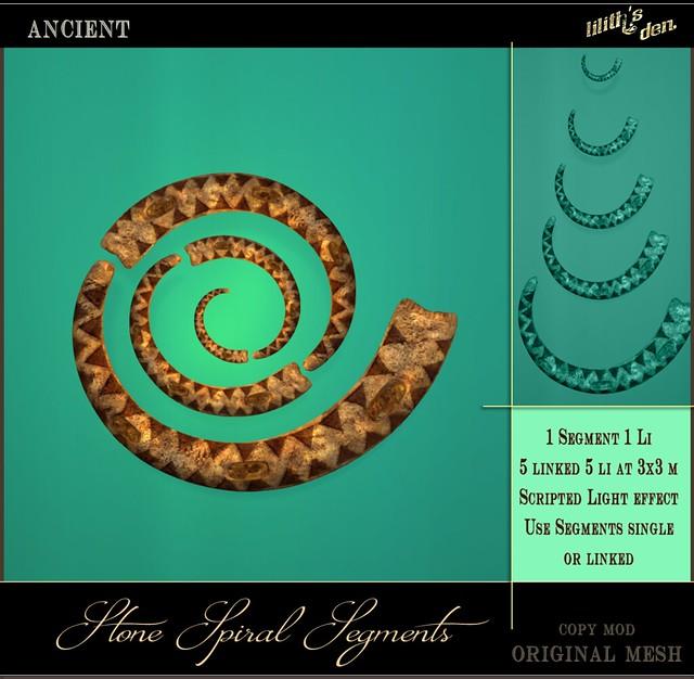 Lilith's Den Stone Spiral Segments