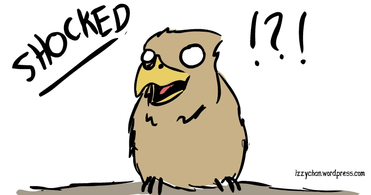 brown bird mildly shocked silly bird