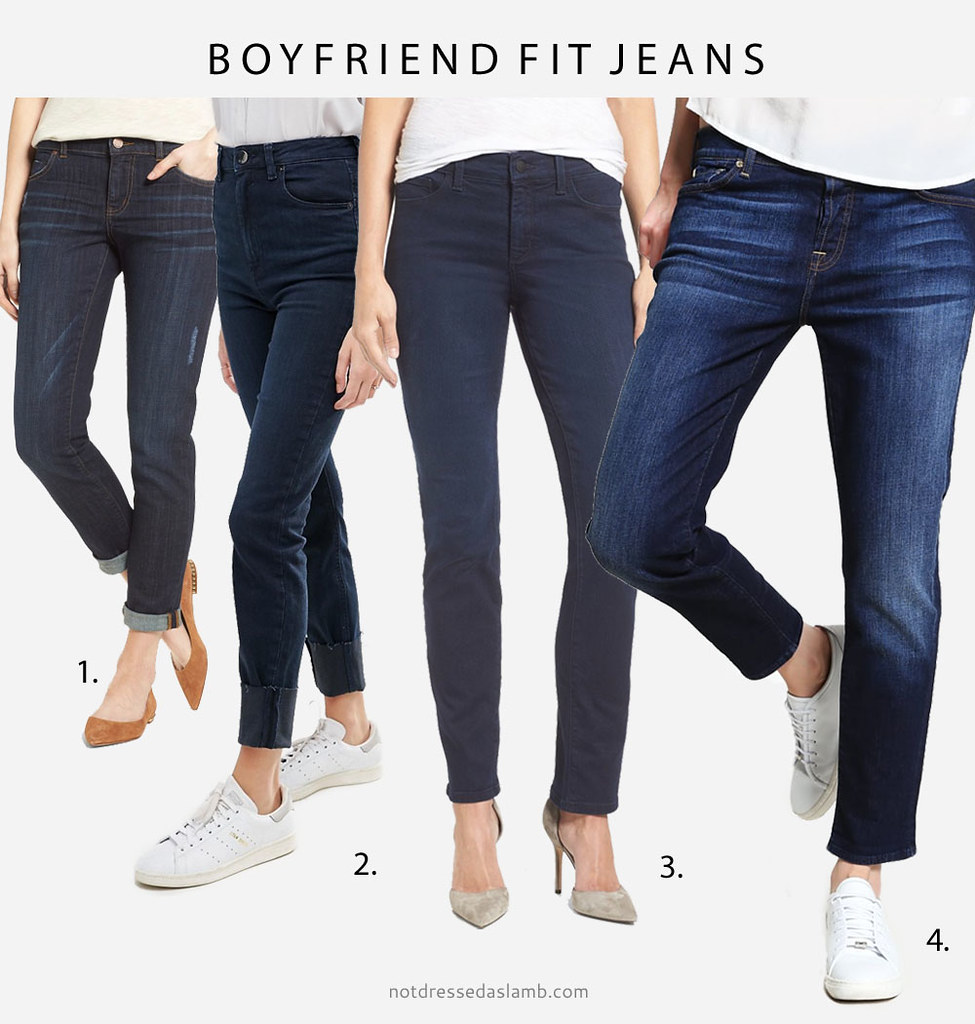 Capsule Wardrobe Pieces That Suit All Body Shapes & Sizes - No.2 Classic Dark Wash Jeans (boyfriend fit) | Not Dressed As Lamb