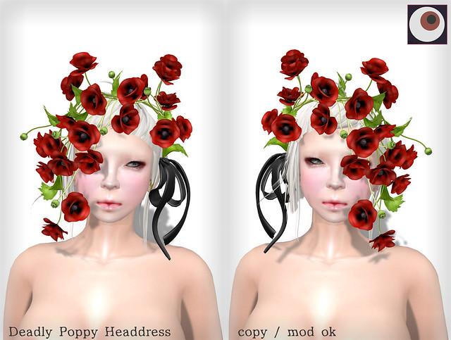 *NAMINOKE*Deadly Poppy Headdress
