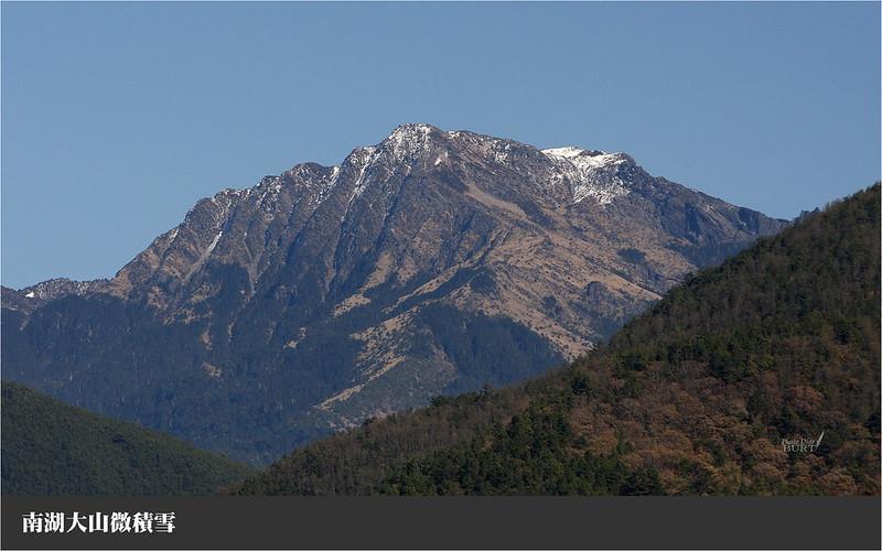 南湖大山微積雪