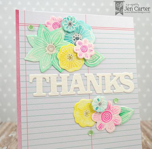 Jen Carter Doodled Daisies Everyday Words Closeup 1