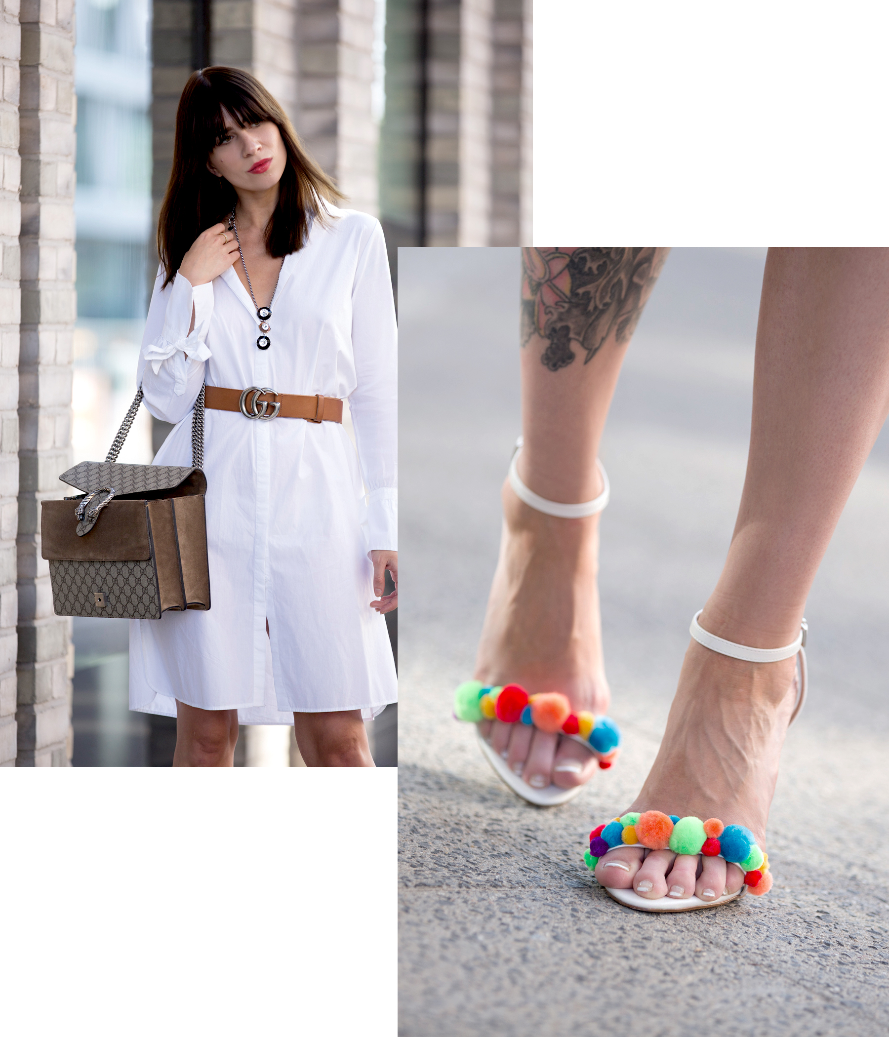 outfit white dress gucci belt dionysus bag pompom heels aquazzura diy blogger ootd fashionblogger summer streetstyle berlin bloggers cats & dogs modeblog ricarda schernus lifestyleblogger 7