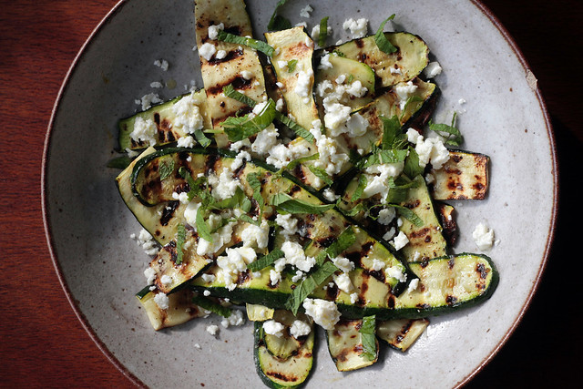 Grilled Zucchini with lemon and feta II