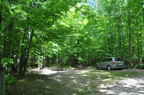 Our campsite at Restoule
