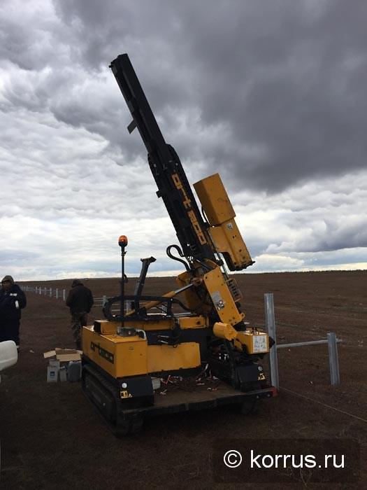 ORTECO BTP HEAVY DUTY на установке стоек для панелей солнечных батарей