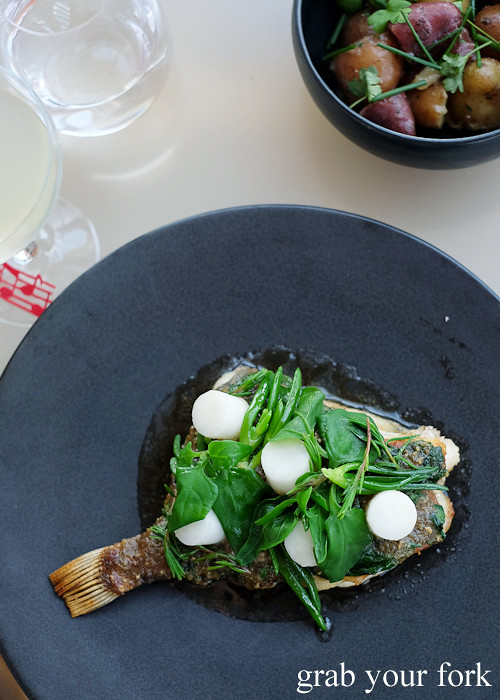 Roasted John Dory on the bone at Bennelong Restaurant Sydney