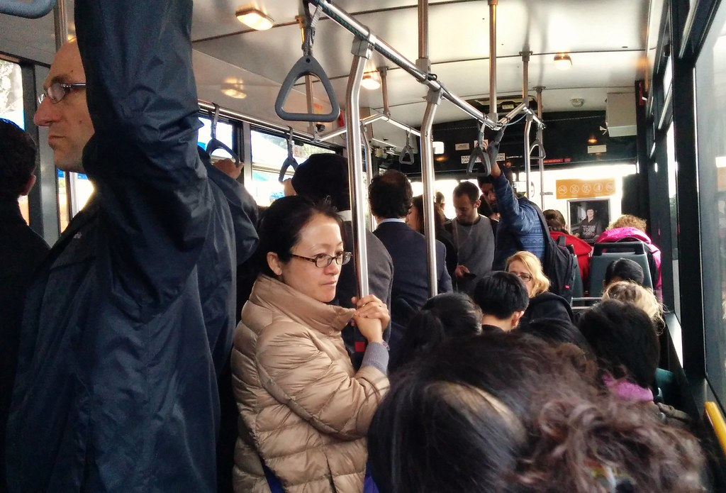 Crowded bus #bustitution