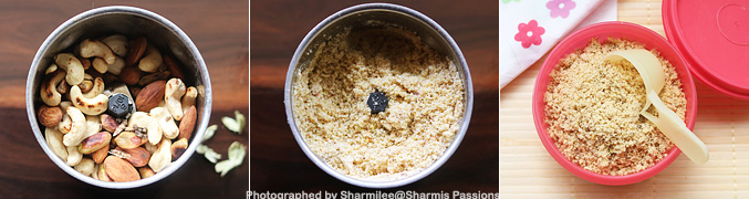 How to make Nuts Powder for Babies - Step2