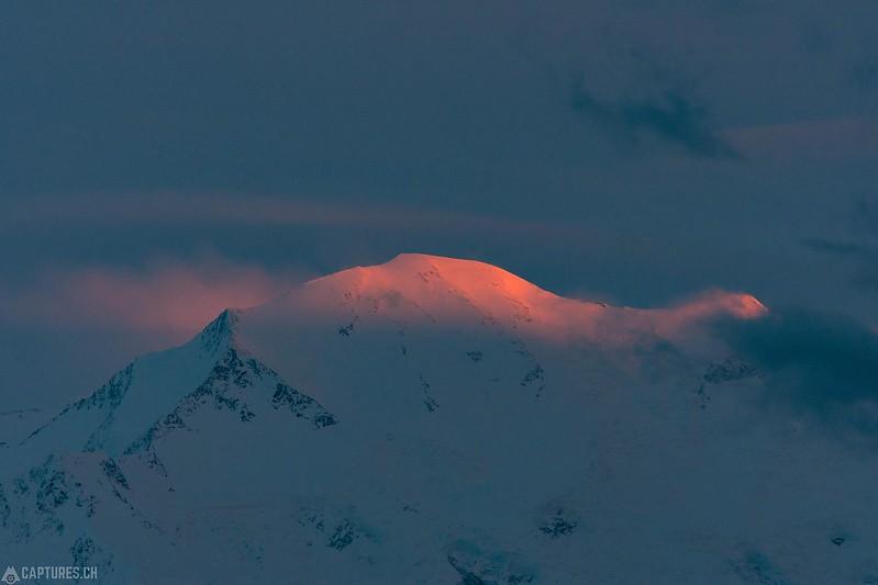 Last light at the top of Denali - Denali National Park